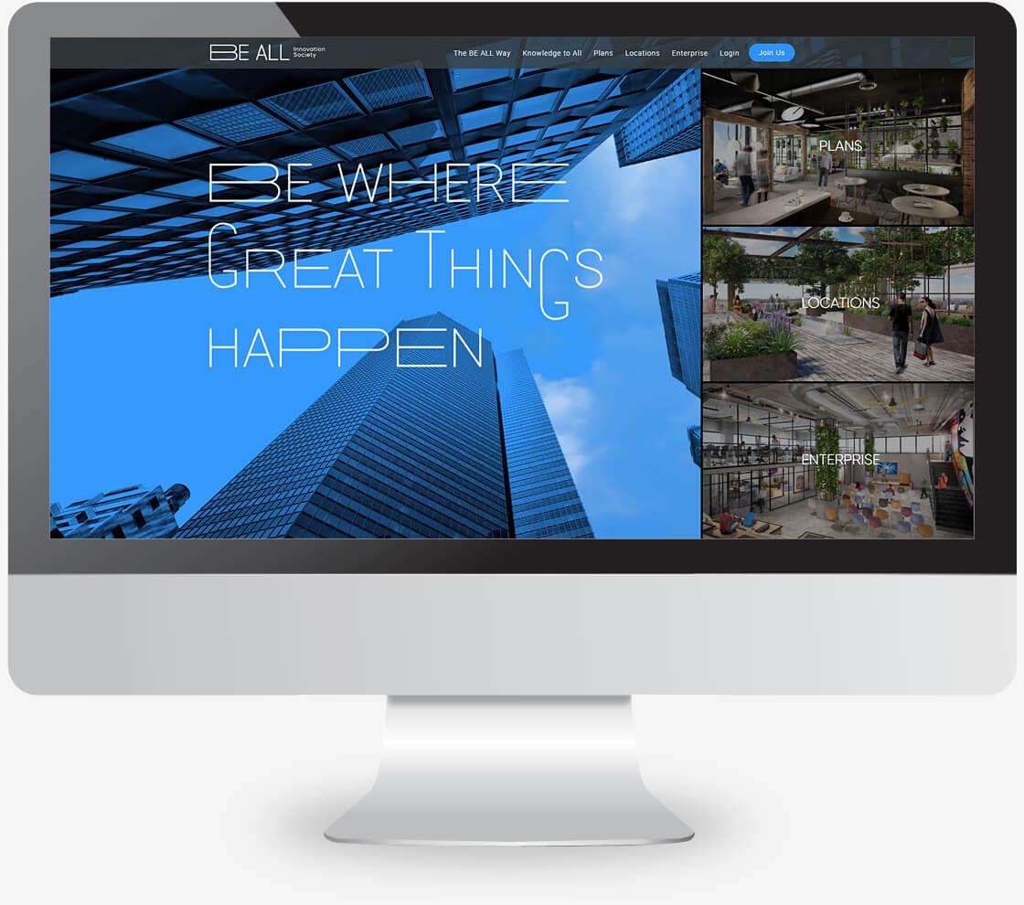 be-all פיתוח אתר על בסיס עיצוב ייחודי