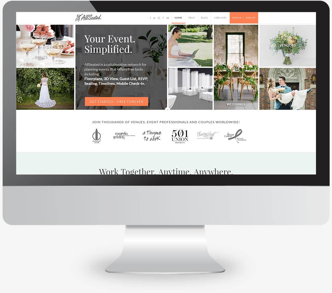 allseated - אתר תדמיתי שיווקי בוורדפרס