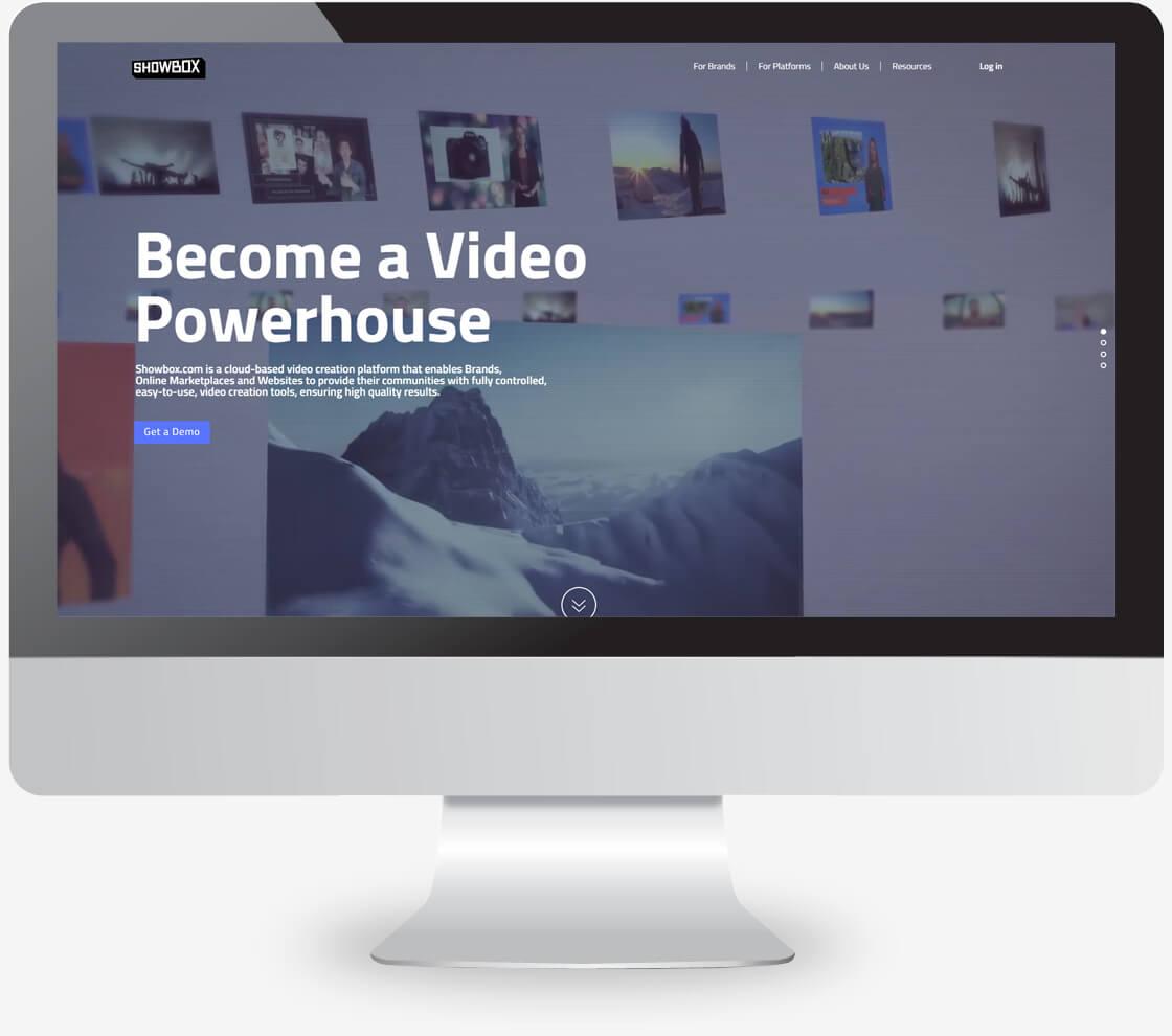 showbox - בניית אתר תדמיתי של חברה